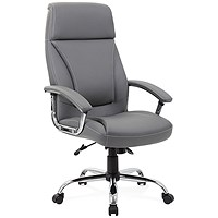 Trexus Penza Leather Executive Chair - Grey