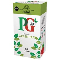 PG Tips Tea Bags / Green Tea Enveloped / Pack of 25