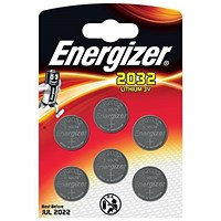 Energizer Lithium Battery CR2032 3V [Pack 6]