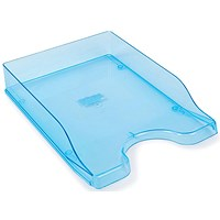 Contemporary Letter Tray, Foolscap, Blue