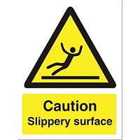 Stewart Superior Caution Slippery Surface Sign - 150x200mm