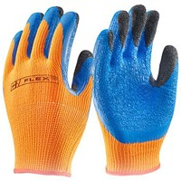 B-Flex Latex Thermo-Star Fully Dipped Glove, Medium, Orange
