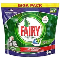 Fairy Original Professional Dishwasher Capsules, All-in-One, Pack of 100