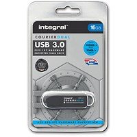 Integral Courier Dual USB 3.0 Flash Drive - 16GB
