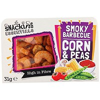 Snacking Essentials Smokey Barbecue Corn and Peas Snack Pot - Pack of 9