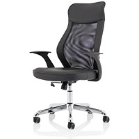 Trexus Baye Mesh and PU Operator Chair- Black