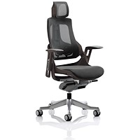 Adroit Zure Mesh Executive Chair With Headrest, Charcoal
