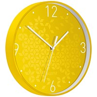Leitz WOW Wall Clock, 290mm Diameter, Yellow