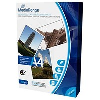 MediaRange A4 Glossy InkJet Photo Paper, 160gsm, Pack of 100