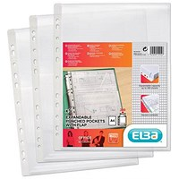 Elba A4 Heavy-duty Expanding Pockets / with Flap / Pack of 5