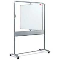 Nobo Mobile Magnetic Whiteboard Easel, Vertical Pivot, W1200xH900mm