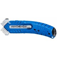 Pacific Handy Cutter Safety Cutter, Ambidextrous with Tape Splitter, Blue