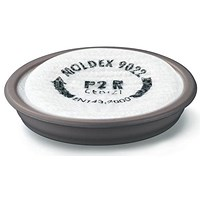 Moldex 9022 P2R D Plus Ozone Particulate Filter, White, Pack of 6