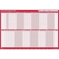 Sasco 2019 Staff Planner, Unmounted, 915x610mm