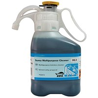 Suma Bac Super Concentrated Kitchen Sanitiser / Liquid Detergent / 1.4 Litres / Pack of 2