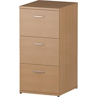 Trexus Foolscap Filing Cabinet, 3-Drawer, Oak