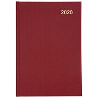 5 Star 2020 Diary, Day to a Page, A5, Red