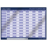 Collins 2020 Holiday Wall Planner, Unmounted, 840x594mm