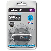 Integral Courier Dual USB 3.0 Flash Drive - 32GB