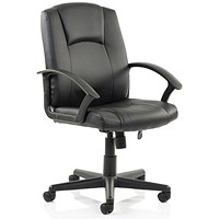 Trexus Bella Leather Executive Managers Chair- Black