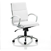Adroit Classic Medium Back Executive Chair, White