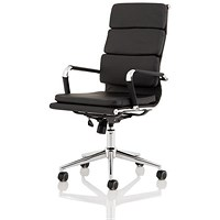 Trexus Hawkes Executive Chair - Black PU Chrome Frame