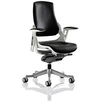 Adroit Zure Leather Executive Chair, Black