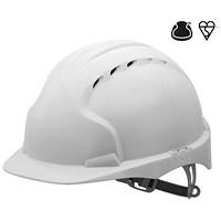 JSP EVO2 EN397 Safety Helmet, HDPE 6-point Harness, White
