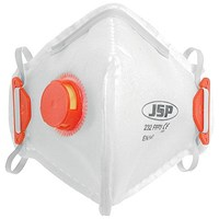 JSP Disposable Valved Mask, Fold-flat, FFP3 Class 3, Pack of 10