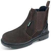 Click Traders PUR Dealer Boots, S3, PU/Rubber/Leather, Size 5, Brown