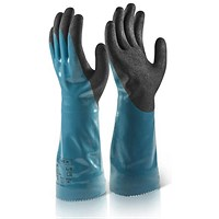 B-Flex Chemical Gauntlet, Medium, Blue