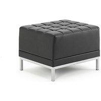 Sonix Leather Modular Cube Chair - Black
