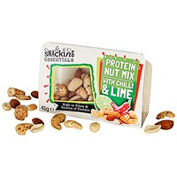 Snacking Essentials Nut Mix Chilli and Lime Snack Pot - Pack of 9