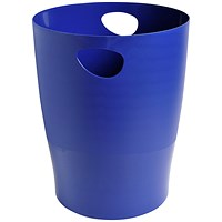 Exacompta Forever Waste Bin, Recycled Plastic, 15 Litres, Blue