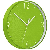Leitz WOW Wall Clock, 290mm Diameter, Green
