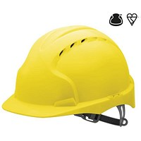 JSP EVO2 EN397 Safety Helmet, HDPE 6-point Harness, Yellow