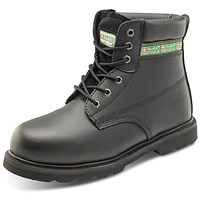 Click Footwear Goodyear Welted 6 inch Boots, Leather, Size 12, Black