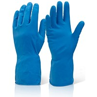 Click 2000 Household Gloves, Medium Weight, Small, Blue, Pack of 10