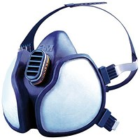 3M 4277 Gas/Vapour and Particulate Respirator, Maintenance Free, Blue