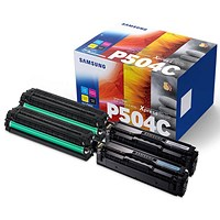 Samsung CLT-P504C Toner Set - Cyan, Magenta, Yellow, Black (4 Cartridges)