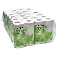 Maxima Green Toilet Rolls, 2-Ply, 200 Sheets per Roll, 48 Rolls