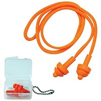 JSP Megaplug Ear Plugs With Cord and Carry Case - Pack of 60