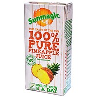 Sunmagic Pure Pineapple Juice - 12 x 1 Litre Cartons