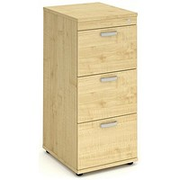 Trexus Foolscap Filing Cabinet, 3-Drawer, Maple