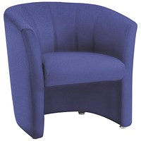 Trexus Reception Single Seat Fabric Tub Chair - Blue
