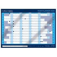 Collins 2020 Year Wall Planner, Unmounted, 840x594mm