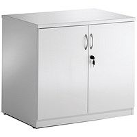Trexus Desk High Cupboard - High Gloss White