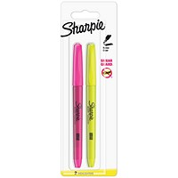 Sharpie Accent Pocket Highlighters, Assorted Fluorescent, Pack of 2
