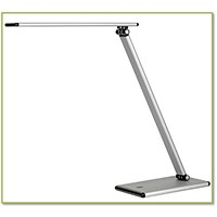Unilux Terra LED Desk Lamp Adjustable Arm 5W Max Height 510mm Base 180x120mm Silver