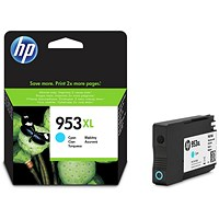 HP 953XL High Yield Cyan Ink Cartridge